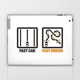 Fast Car - Fast Driver v1 HQvector Laptop & iPad Skin