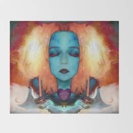 My fire will always burn bright Throw Blanket