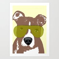 pit bull Art Prints featuring American Pit Bull Terrier by ialbert