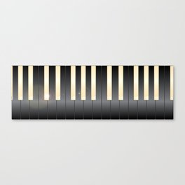 White And Black Piano Keys Canvas Print