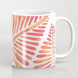 Tropical Banana Leaves – Pink & Peach Ombré Palette Coffee Mug
