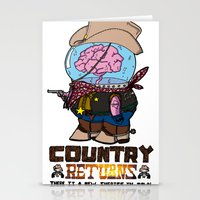 returns Stationery Cards featuring country returns by benjamin chaubard