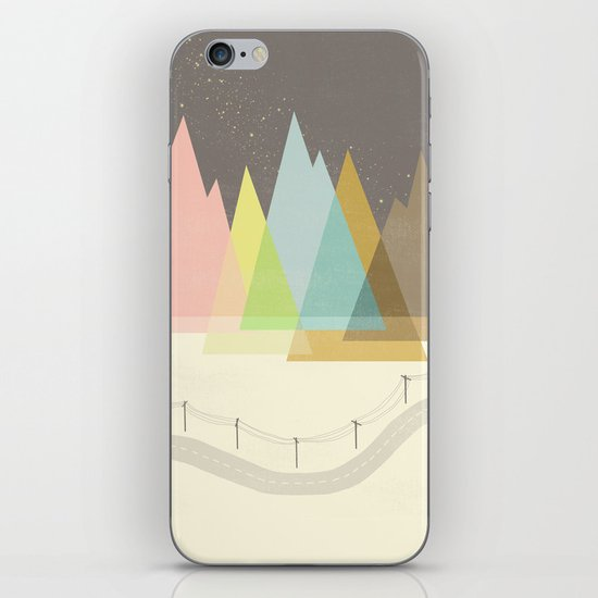 Highway Under Stars iPhone & iPod Skin