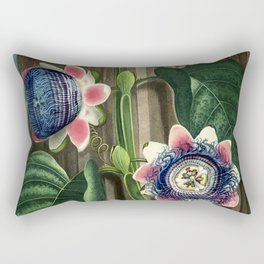 The Quadrangular Passion Flower :  New Illustration Of The Sexual System Rectangular Pillow