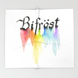 Bifrost the road to Valhalla Throw Blanket