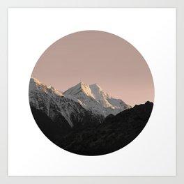 Mountain Series - Mount Cook Circle Art Print
