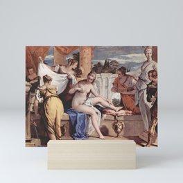 Sebastiano Ricci - Bathseba at her bath Mini Art Print
