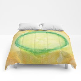 A piece of cucumber Comforters