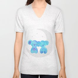moon koalas Unisex V-Neck
