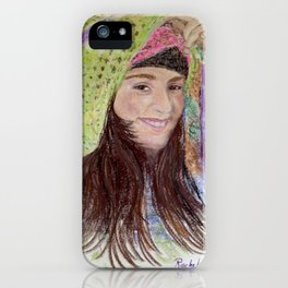 Girl in Hat iPhone Case