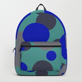 bubbles blue grey turquoise design Backpack