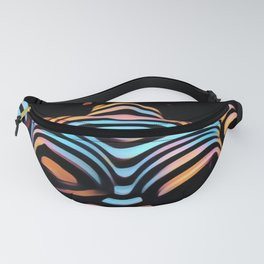 1205s-MAK Shadow Striped Female Torso Rendered Composition Style Fanny Pack