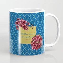 Qua-trefoil Red Geraniums Coffee Mug