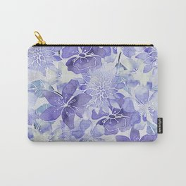 Purple Flower watercolor allover pattern Carry-All Pouch