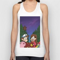 gravity falls Tank Tops featuring Gravity Falls by toibi