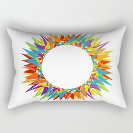 Explosion of Blooming Spring Colors Rectangular Pillow