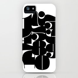 Numbers Black iPhone Case