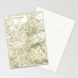Vintage Map - Spruner-Menke Handatlas (1880) - 48 Napoleonic Era Germany 1807 - 1815 Stationery Cards