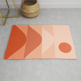 Abstraction_SUN_RED_Mountains_Minimalism_001 Rug