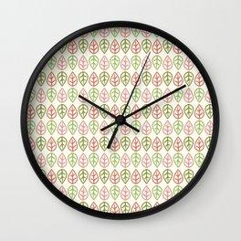 Greenwood leaf Wall Clock