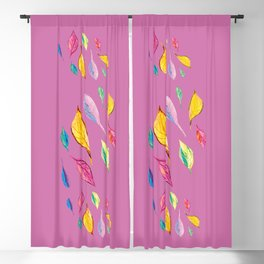 Summer colourfull pattern, decortive illustration design Blackout Curtain