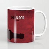 true blood Mugs featuring True Blood by Luke Eckstein