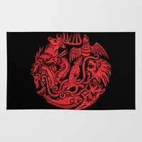 lannister Area & Throw Rugs featuring Circular Sigils by Zomboy