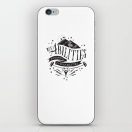 My Abilities Outweigh My Disabilities iPhone Skin