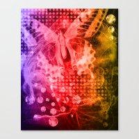 tye dye Canvas Prints featuring Tye-Dye Butterfly by Rushni