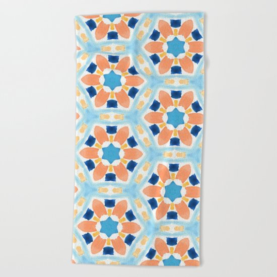 Moroccan Pattern V1 #society6 #decor #buyart Beach Towel