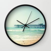 500 days of summer Wall Clocks featuring Summer Days by Kameron Elisabeth