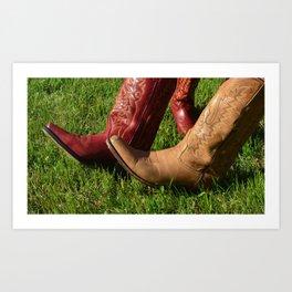 Texas Boots Art Print