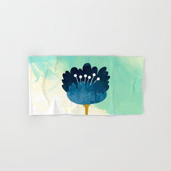 Acuarela Blue Flower Hand & Bath Towel