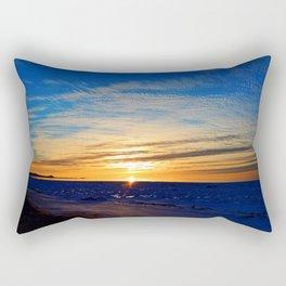 Sun and Sea on last day on winter Rectangular Pillow
