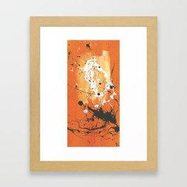 orange sky Framed Art Print