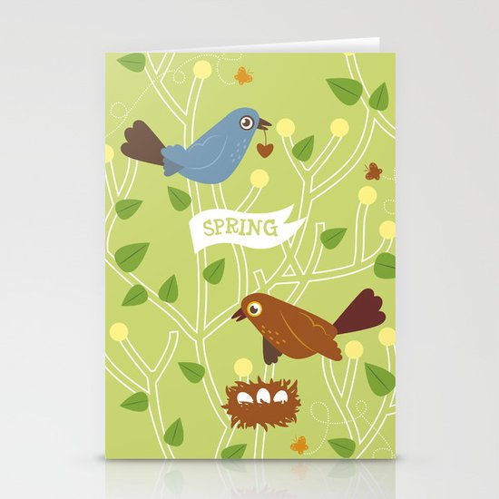 4 Seasons - Spring Stationery Cards