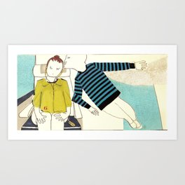 when you are in my mind Art Print