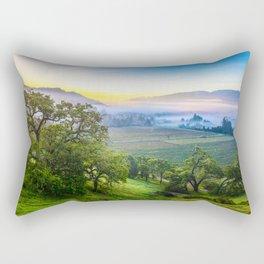 First Light Over Misty Napa Valley Rectangular Pillow