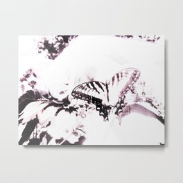 Faded Butterfly Lilac Metal Print