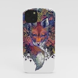 Hiding fox rainbow iPhone Case