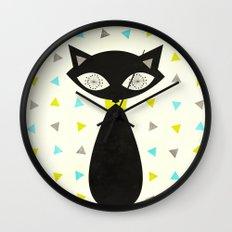 Mid Century Cat  Wall Clock