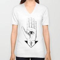 hamsa V-neck T-shirts featuring Hamsa by KPapparel