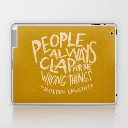 HOLDEN CAULFIELD ON APPLAUSE Laptop & iPad Skin