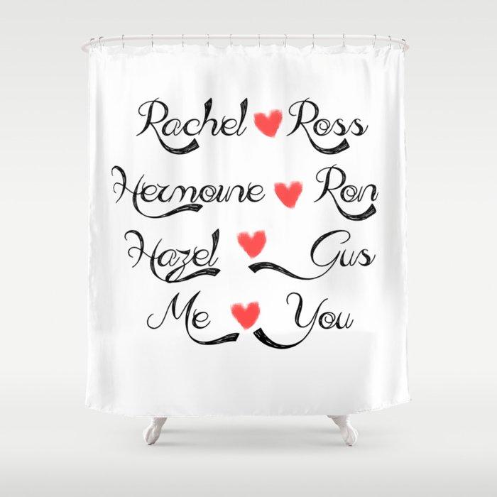 Valentine's Romance: books-tv Shower Curtain
