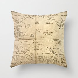 Map of Imirillia Throw Pillow