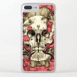 Tattooed Skull Clear iPhone Case