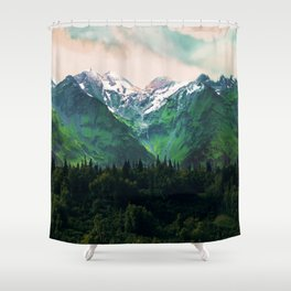 Escaping from woodland heights IV Shower Curtain
