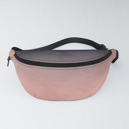 Modern abstract dark navy blue peach watercolor ombre gradient Fanny Pack