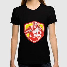 Sandblaster Sandblasting Hose Shield Retro T-shirt