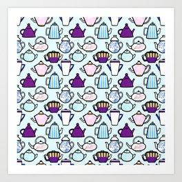 Tea Pot Pattern Art Print